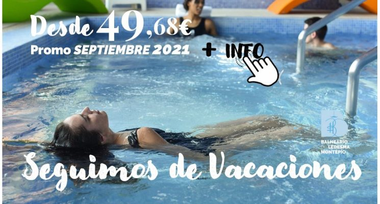 Promoción «En septiembre, seguimos de vacaciones», desde 49,68€ por persona (del 19 al 30 sept)